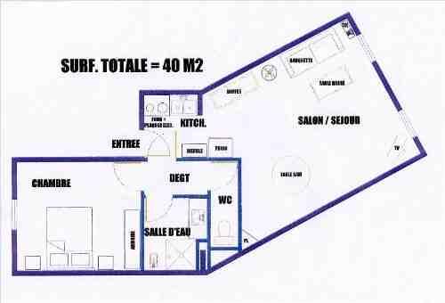 40m2 for Salon 40m2 plan